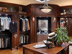 The Hunt Club Valet custom closet by Wood-Mode is a timeless, elegant choice for those who demand the best in their interior decor and millwork. Description from gildedlife.com. I searched for this on bing.com/images