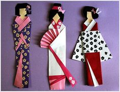 Geisha bookmarks ...Oh, my good golly gracious, that is so CUTE!! :)