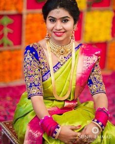 South indian bridal blouse designs hindus 37 Ideas for 2019 South Indian Bridal Jewellery, South Indian Weddings, South Indian Bride, Kerala Bride, Hindu Bride, Bridal Jewelry, Gold Jewelry, Indian Jewelry, Kerala Jewellery