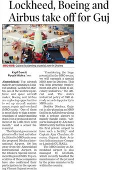 Top aircraft makers lockheed, boing & airbus planning their units in Dholera SIR
