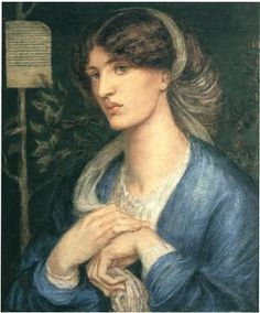 Beatrice (Lady in a Blue Dress) modelled by Jane Morris painted by Dante Gabriel Rossetti