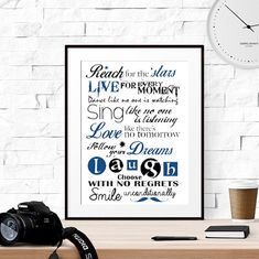 40% OFF Printable gift for son navy quote art by LUCIAandLUCIANA
