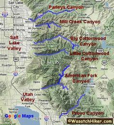 Wasatch Canyons...hiking  Cool Website you click which type of hike, difficulty, time, etc and it gives you suggestions