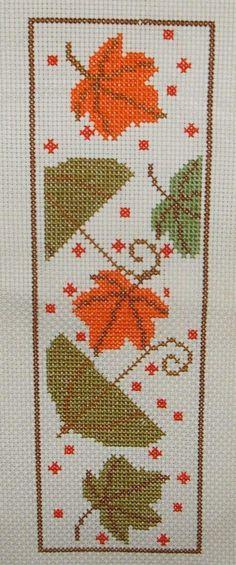 Cross Stitch Borders Counted Cross Stitch Pattern PDF-Fall book mark by jassycorner on Etsy - Cross Stitch Bookmarks, Cross Stitch Books, Cross Stitch Heart, Cross Stitch Borders, Counted Cross Stitch Patterns, Cross Stitching, Cross Stitch Embroidery, Hand Embroidery Designs, Embroidery Patterns