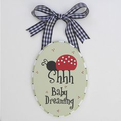 Ladybug Nursery Door Sign