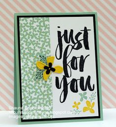 Have you earned your free Sale-a-Bration sets yet? I love the simplicity and boldness of the Botanicals for You set. It works great as a single layer or embellished and layered for a fun card. I pa Scrapbooking, Scrapbook Cards, Stamping Up Cards, Cards For Friends, Paper Cards, Cool Cards, Flower Cards, Creative Cards, Homemade Cards