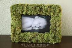 15 Adorable DIY Ideas for Your Woodland Nursery: Mossy Frame