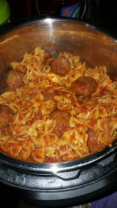 Ok, now, yesterday I posted a recipe for yummy Pot Roast... Today's recipe is a super simple IP pasta.  Sort of a Baked Ziti type thing but ...