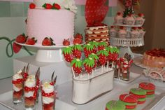 Southern Blue Celebrations: Strawberry Shortcake Party Ideas