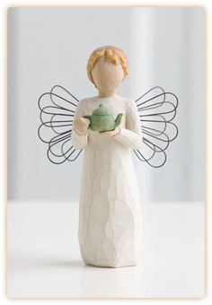 Willow Tree Engel Küche Angel of The Kitchen Angel Sculpture, Sculpture Art, Willow Tree Engel, Willow Tree Figuren, Willow Figurines, Hand Carved, Hand Painted, Carved Wood, Tree People