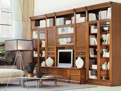 Мебель из массива дерева Le Fablier в интерьере гостиной.