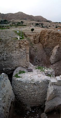 Inside this wall stood a tower over 3.6 metres (12 ft) high, containing an internal staircase with 22 stone steps. The wall and tower have no known precedent in human culture, and would have taken a hundred men more than a hundred days to construct. - Old Tower in Jericho - Israel