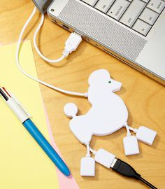Poodle USB Hub Connects Your Four Legs  ... see more at PetsLady.com ... The FUN site for Animal Lovers