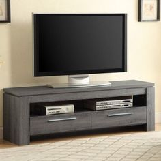 Coaster Weathered Grey TV Console for TVs up to 46 inch, Gray