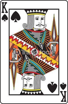 King Of Spades Playing Card Vector Art | Thinkstock
