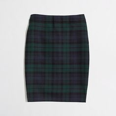 J.Crew Factory - Factory pencil skirt in Black Watch plaid