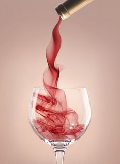 Swirling Red Wine: What a beautiful site!