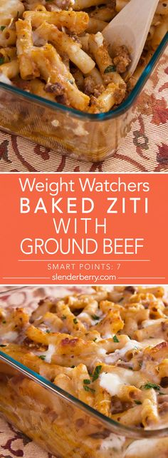 Weight Watchers Baked Ground Beef Ziti Recipe - 7 Smart Points