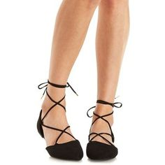 These lace around flats are TOO cute! They'll go perfect with your skinny jeans or even shorts!