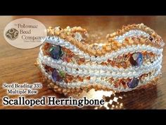 Make Scalloped Herringbone Stitch Jewelry - YouTube