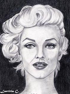 Marilyn Monroe by Laetitia | This image first pinned to Marilyn Monroe Art board, here: http://pinterest.com/fairbanksgrafix/marilyn-monroe-art/ || #Art #MarilynMonroe