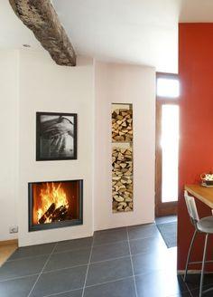 modern log burner fireplaces - Google Search