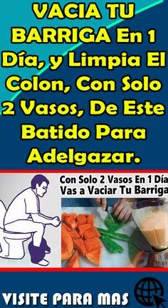 VACIA TU BARRIGA En 1 Día, y Limpia El Colon, Con Solo 2 Vasos, De Este Batido Para Adelgazar #consejos #cuidados #barriga #colon #batido #adelgazar