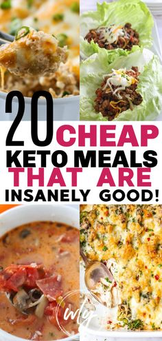 20 cheap keto meals when you want to do keto on a budget. These easy keto dinners are perfect keto diet for beginners ideas and can even be your ketogenic diet meal plan for dinner. diet for beginners meal plan 20 Cheap Keto Meals Ketogenic Diet Meal Plan, Ketogenic Diet For Beginners, Keto Diet For Beginners, Keto Diet Plan, Diet Meal Plans, Ketogenic Recipes, Diet Recipes, Healthy Recipes, Dessert Recipes