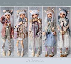 Outfits of the week/ Pastel Mori girl. (nekomuchuu63) Tags: minifee chloe mod fairyland bjd
