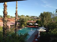 View of pool at Colony Palms Hotel | Palm Springs