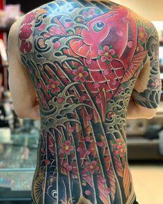 Back Tattoos, Tatoos, Japanese Dragon Tattoos, Japanese Koi, Back Pieces, Tattos, Back Tattoo