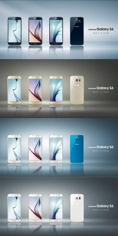 All colors of the new #GALAXYS6 at a glance! You can read more about Samsung's flagships on ► www.tnw.to/mwc2015