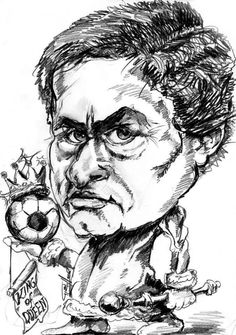 caricature of mourinho real