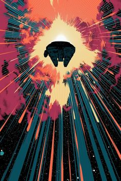 Mondo and Bottleneck Gallery revealed batch of new A Clockwork Orange, Enter the Dragon & Star Wars The Force Awakens prints on sale while supplies last. Star Wars Fan Art, Nave Star Wars, Arte Nerd, Dragon Star, Street Art, Star Wars Prints, Millenium Falcon, Enter The Dragon, Star Wars Images