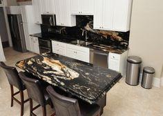 Titanium Granite Kitchen with Island