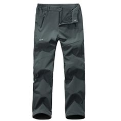 HKTLtd Womens Softshell Trousers Warm Climbing Pants Gray XXL ** Click on the image for additional details.