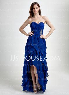 Prom Dresses - $146.99 - A-Line/Princess Sweetheart Asymmetrical Chiffon Prom Dress With Ruffle Beading (018015859) http://jjshouse.com/A-Line-Princess-Sweetheart-Asymmetrical-Chiffon-Prom-Dress-With-Ruffle-Beading-018015859-g15859