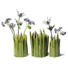 Flowers in a Vase of Grass