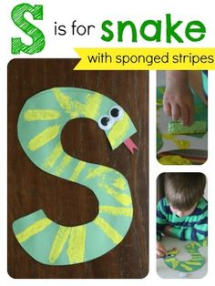 S is for Snake: Alphabet Craft- Pinned by @PediaStaff – Please Visit  ht.ly/63sNt for all our pediatric therapy pins