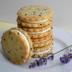 Lemon Filled Lavender Shortbread Cookies - From Calculu∫ to Cupcake∫ These are PERFECT!!!!
