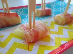 Lekkere hapjes OUD en NIEUW I Ananas met spek bites