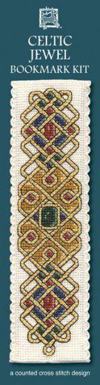 """Kreuzstichpackung Lesezeichen """"Keltisches  Juwel"""" / cross stitch kit bookmark """"Celtic euwel"""", Textile Heritage"""