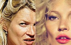 airbrushed celebrities before and after - Google Search