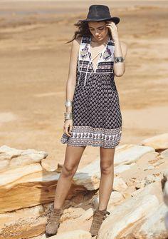 Boho Is Best Sleeveless Mini Dress