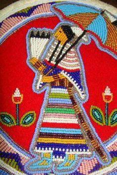 Beaded traditional dancer