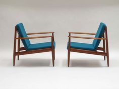 Greta Jalk Danish Lounge Chairs | From a unique collection of antique and modern lounge chairs at http://www.1stdibs.com/furniture/seating/lounge-chairs/