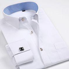 Shopping Cart | LightInTheBox Formal Shirts, Casual Shirts For Men, Men Casual, Men Shirts, French Cuff Dress Shirts, Men Dress, Shirt Dress, Costume, Blue Fashion