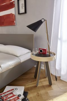 side table anthracite VALET HIGH