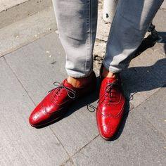 Dominique Saint Paul – hand coloured shoes. Hello Sunday