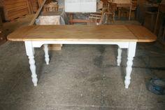 One of our recent extending pine tables:http://www.pinefarmhousetable.co.uk/